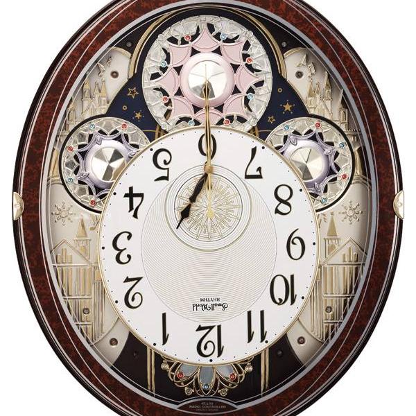 RHYTHM リズム SmallWorld 電波 からくり 掛け時計 スモールワールドノエルN パフォーマンス