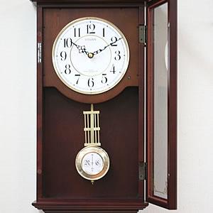 CITIZEN/シチズン 報時付き電波掛け時計 ルイスデールR【4MNA02RH06】 扉