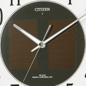 CITIZEN シチズン ソーラー電波掛け時計エコライフM806【4my806-003】 ソーラーパネル