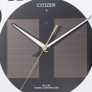 CITIZEN シチズン ソーラー電波掛け時計エコライフM807【4my807-023】 ソーラーパネル