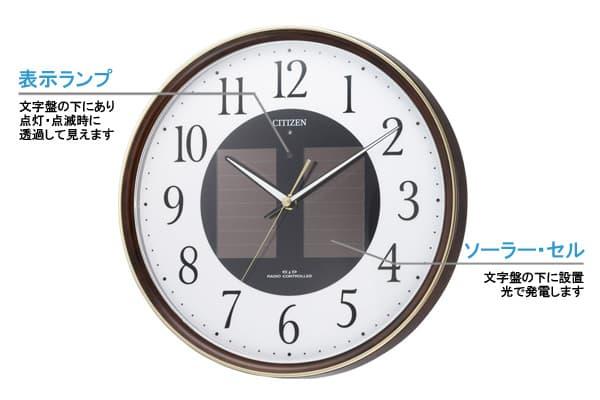 CITIZEN シチズン ソーラー電波掛け時計エコライフM807【4my807-023】 商品詳細