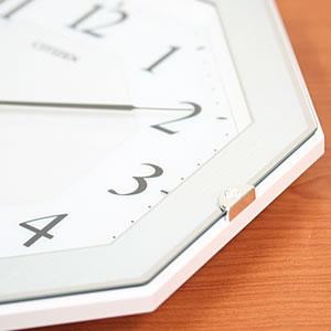 CITIZEN シチズン 電波掛け時計 サイレントソーラーM826【4MY826-004】 素材 厚み