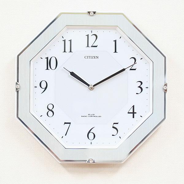 CITIZEN シチズン 電波掛け時計 サイレントソーラーM826【4MY826-004】
