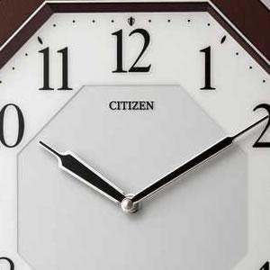 CITIZEN シチズン 電波掛け時計 サイレントソーラーM826【4MY826-006】 文字盤