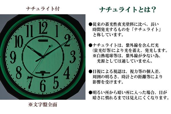 CITIZEN シチズン 電波掛け時計 ネムリーナMA08【4mya08018】 ナチュライト