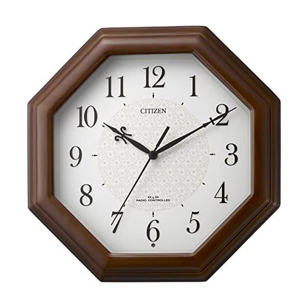CITIZEN シチズン 木製 電波 掛け時計 ネムリーナメイト 4MYA30006