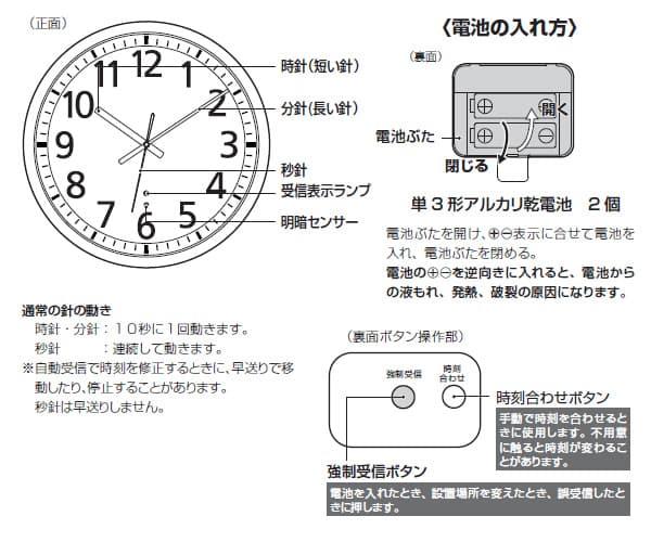 CITIZEN シチズン 電波掛け時計 スペイシーM462【8my462019】 商品詳細