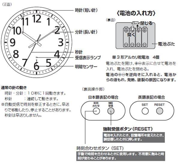 CITIZEN シチズン 電波掛け時計 スペイシーM463【8my463019】 商品詳細