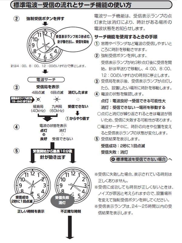 CITIZEN シチズン 電波掛け時計 スペイシーM465【8my465019】 電波受信