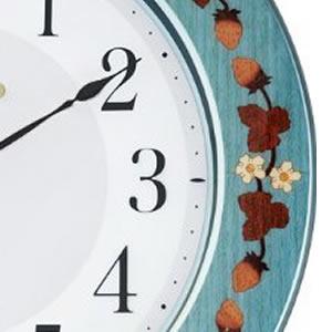 CITIZEN シチズン 象嵌仕上電波掛け時計 プリュマージュM468【8MY468-005】 木枠