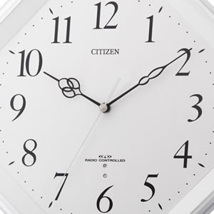 CITIZEN シチズン 電波掛け時計 ミレディM480【8MY480-003】 文字盤