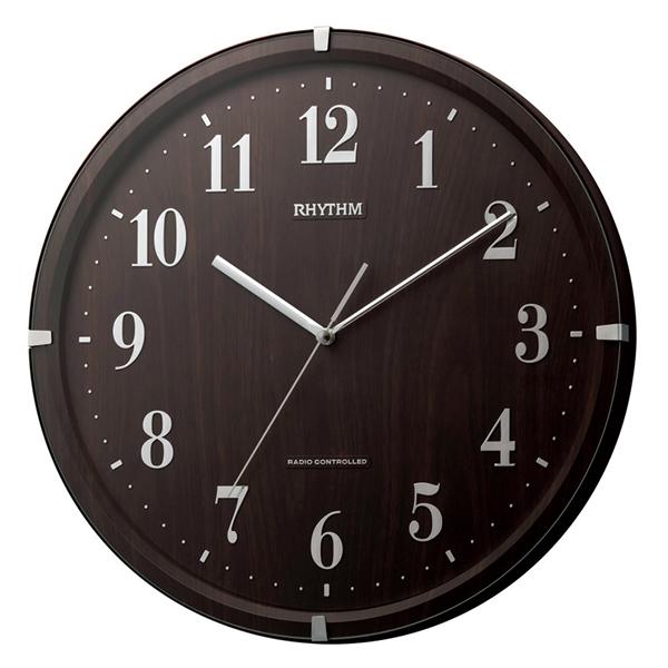 RHYTHM リズム 電波 掛け時計 ライブリーアリス 8MY501SR06 茶