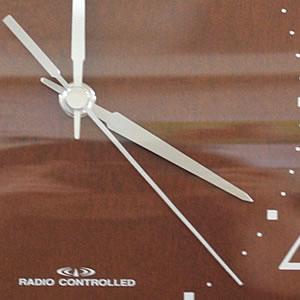 CITIZEN シチズン SIMPLE MODE 電波掛け時計 シンプルモード【8MYA08-006】 茶色 木枠