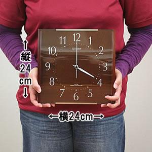 CITIZEN シチズン SIMPLE MODE 電波掛け時計 シンプルモード【8mya08006】 サイズ