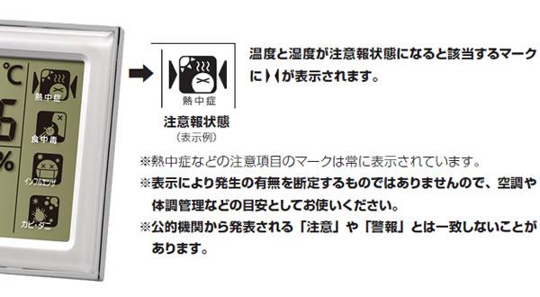 シチズン CITIZEN 温湿度計 ライフナビ648A 液晶表示 マークについて