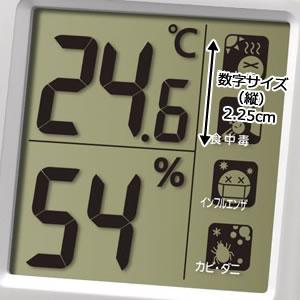シチズン CITIZEN 温湿度計 ライフナビ648A【8RE648-A03】 液晶表示部分