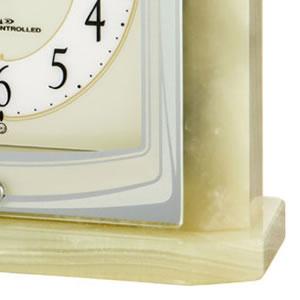 CITIZEN シチズン 電波置き時計 パルラフィーネR400 【8RY400-005】 オニックス枠