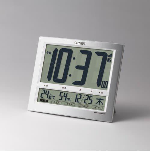 CITIZEN シチズン デジタル 電波 掛け置き兼用時計 パルデジットワイド140 8RZ140019 置いた状態