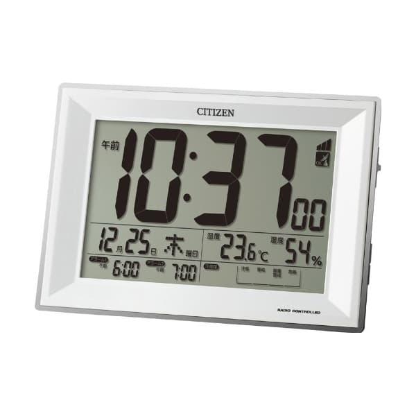 CITIZEN シチズン デジタル 電波 置き時計 パルデジットワイドDL 8RZ151003