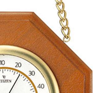 シチズン CITIZEN 温湿度計 TM149 【9CZ102-006】 木枠