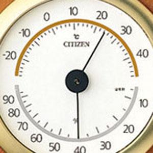 シチズン CITIZEN 温湿度計 TM149 【9CZ102-006】 文字盤