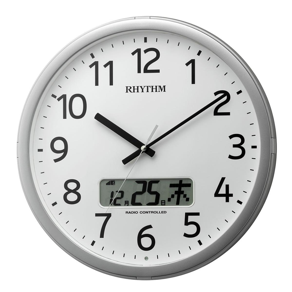 RHYTHM(リズム)電波掛け時計 プログラムカレンダー01SR 4FNA01SR19