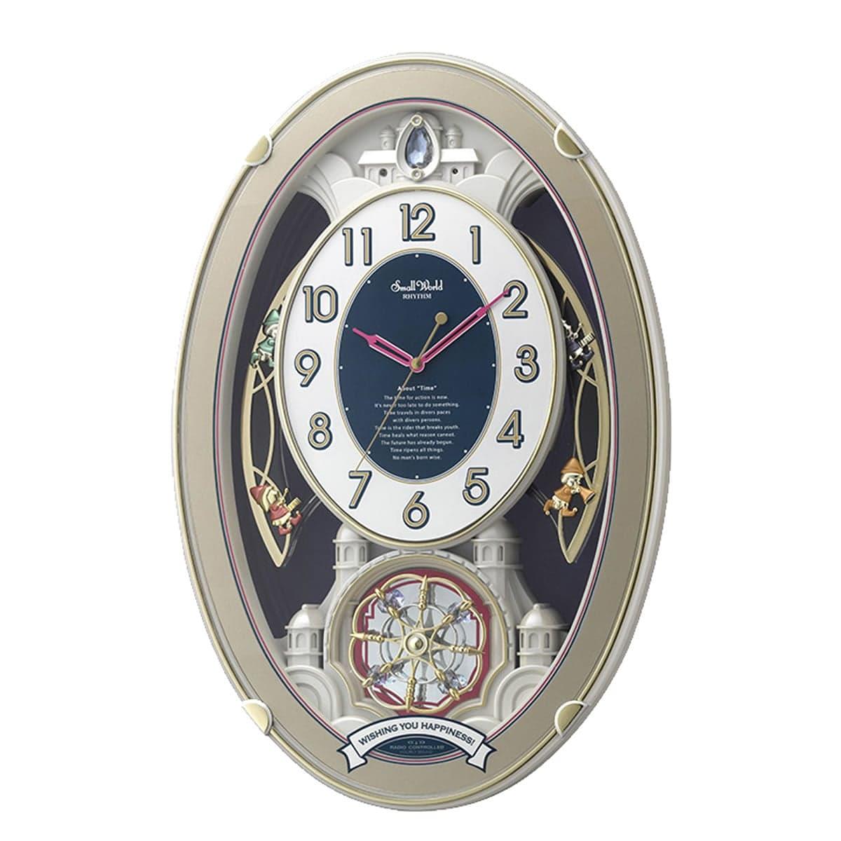 RHYTHM(リズム) SmallWorld 電波掛け時計 スモールワールドウィッシュ 4MN544RH18