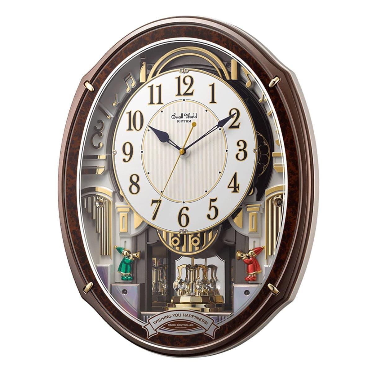 RHYTHM(リズム) SmallWorld 電波掛け時計 スモールワールドアルディ 4MN545RH23