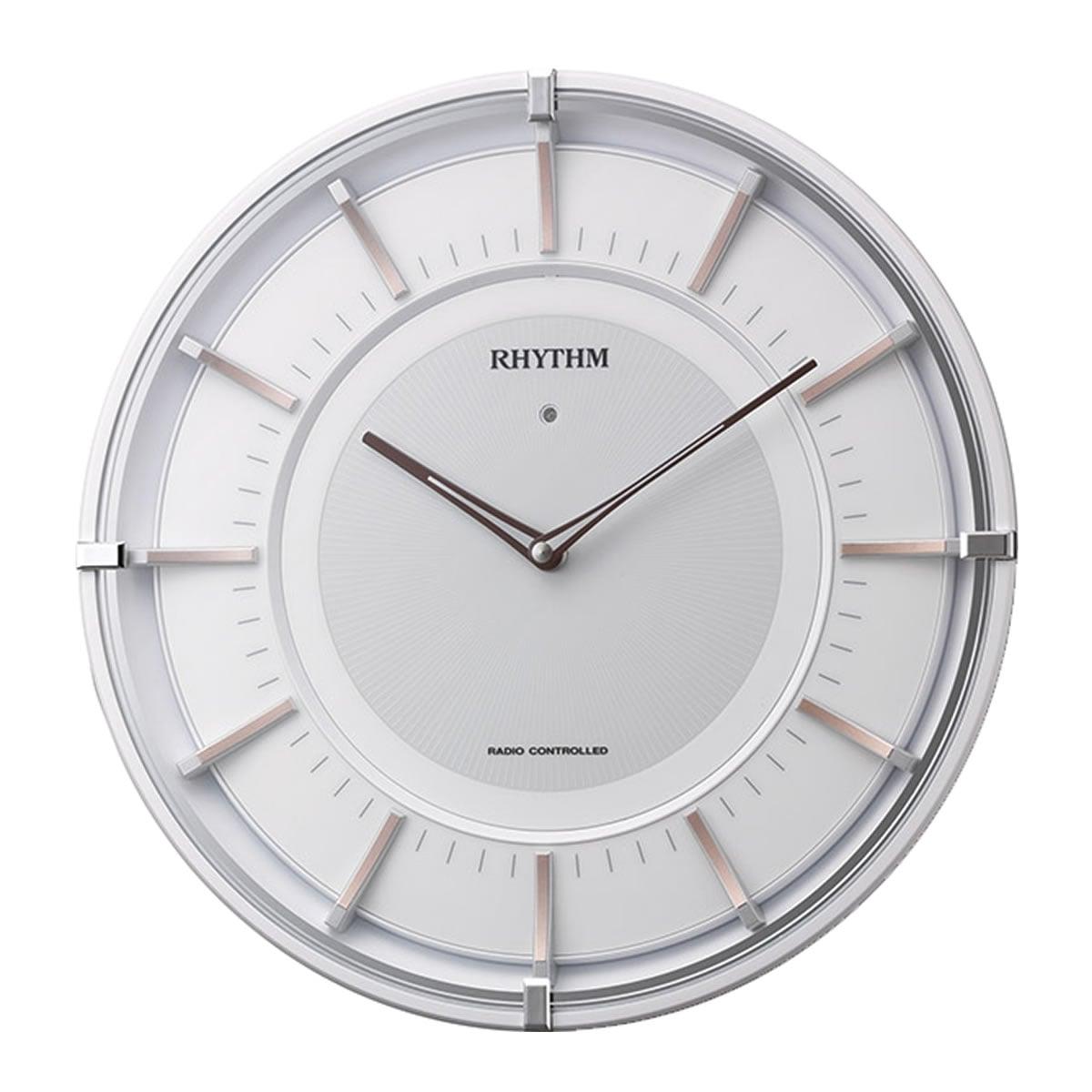 RHYTHM(リズム) ソーラー電波掛け時計 サイレントソーラーM844 4MY844SR13