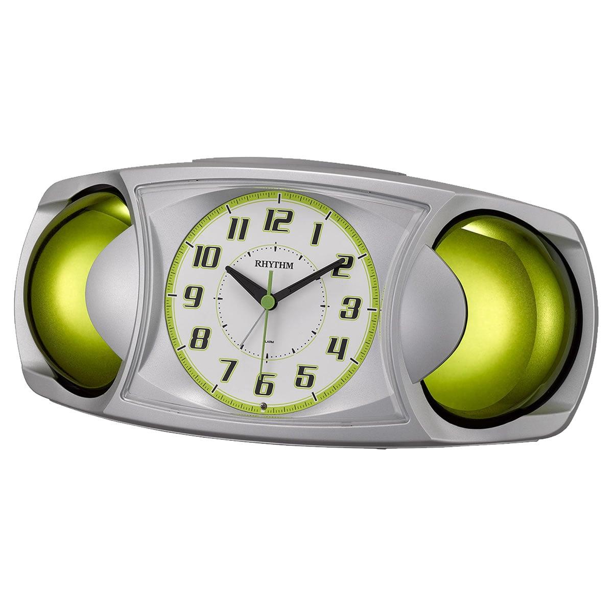 RHYTHM(リズム) 目覚まし時計 バトルMAX X シルバーメタリック 4RA482SR19
