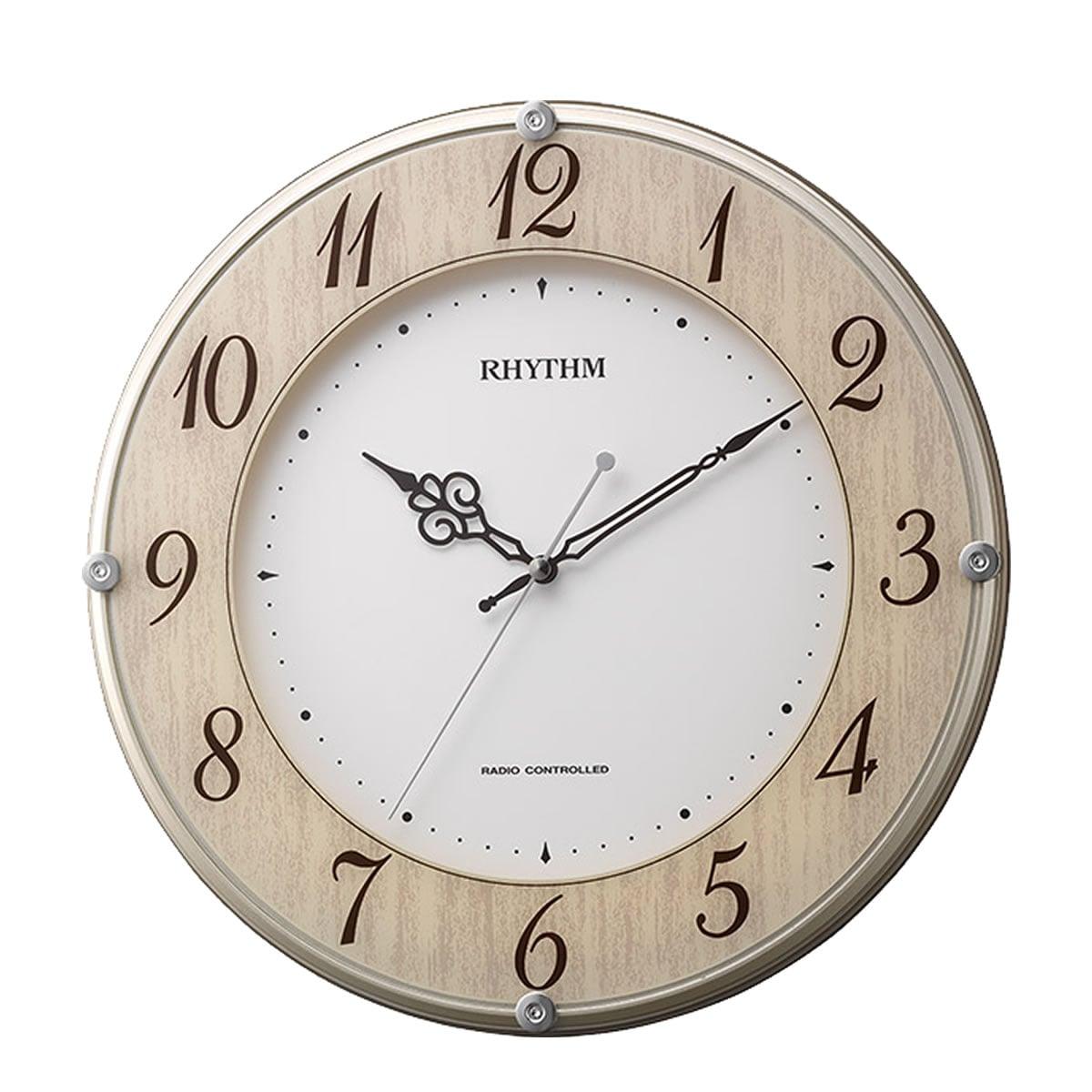 RHYTHM(リズム) 電波掛け時計 ライブリーナチュレ 8MY506SR23