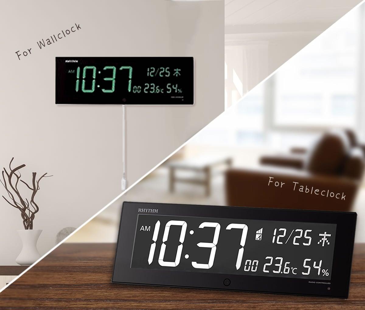 掛け時計としても置き時計としても使える Iroria G(イロリア ジー) 8RZ184SR02