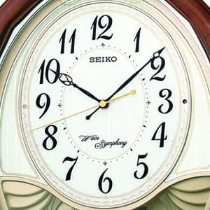SEIKO/セイコー 電波からくり掛け時計 AM257B 文字盤