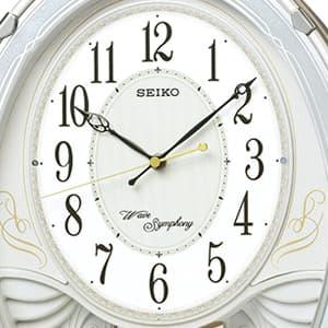 SEIKO/セイコー 電波からくり掛け時計 AM258W 文字盤