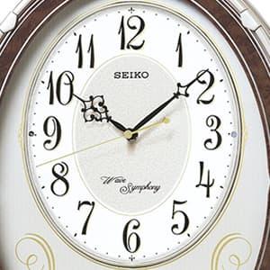 SEIKO/セイコー 電波からくり掛け時計 AM259B 文字盤