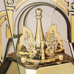 SEIKO セイコー クオーツ置き時計【BY426B】 一方向回転飾り