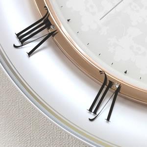 SEIKO/セイコー ディズニー電波掛け時計 ミッキー&ミニー【FS501W】 ガラス面 ローマ数字