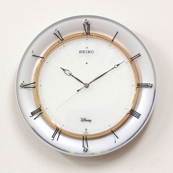 SEIKO/セイコー ディズニー電波掛け時計 ミッキー&ミニー【FS501W】