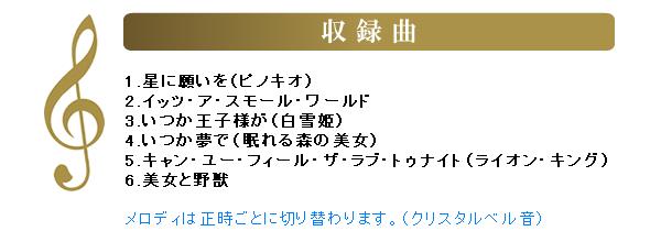 SEIKO/セイコー ディズニー電波掛け時計 ディズニープリンセス 収録曲