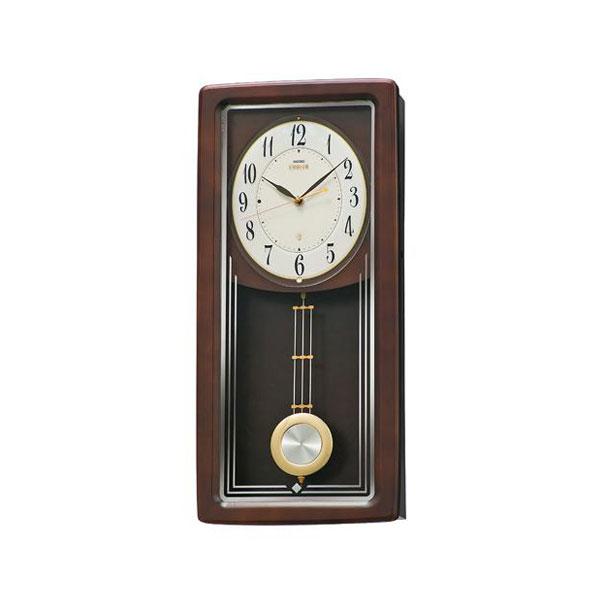 セイコーエムブレム シンプルなデザイン振り子掛時計[HS443B] ZOOM