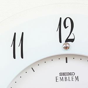 SEIKO EMBLEM セイコーエムブレム 薄型インテリアソーラークロック[HS533W] 文字盤
