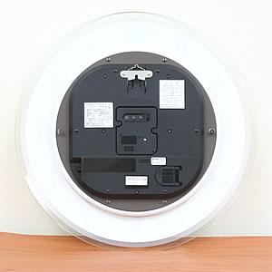 SEIKO EMBLEM セイコーエムブレム 薄型インテリアソーラークロック[HS533W] 裏面