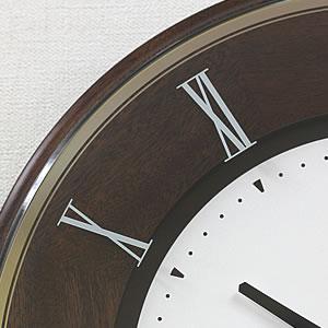 SEIKO セイコー 薄型電波掛け時計 エムブレム【HS540B】 木枠
