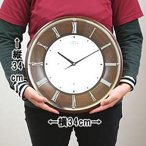 SEIKO セイコー 薄型電波掛け時計 エムブレム【HS540B】 サイズ