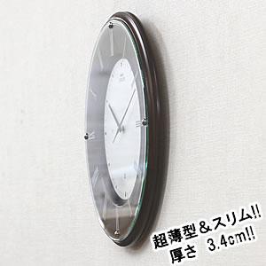 SEIKO セイコー 薄型電波掛け時計 エムブレム【HS540B】 側面