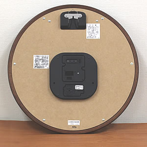 SEIKO セイコー 薄型電波掛け時計 エムブレム【HS540B】 裏面