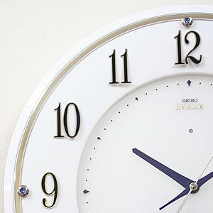 SEIKO セイコー 電波掛け時計 エムブレム【HS543W】 文字盤 装飾
