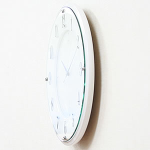 SEIKO セイコー 電波掛け時計 エムブレム【HS543W】 側面