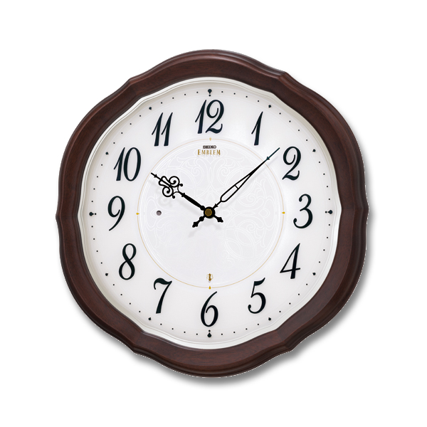 SEIKO EMBLEM セイコーエムブレム シックな木製電波壁掛時計[HS544B] ZOOM