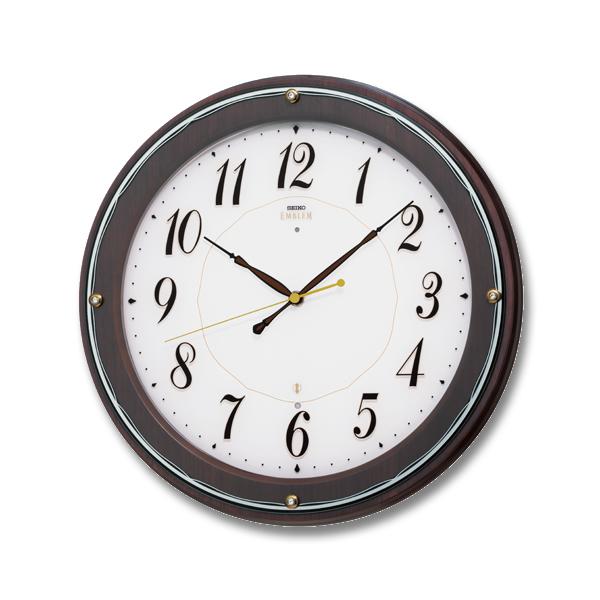 SEIKO EMBLEM セイコーエムブレム シックな木製電波壁掛時計[HS545B] ZOOM